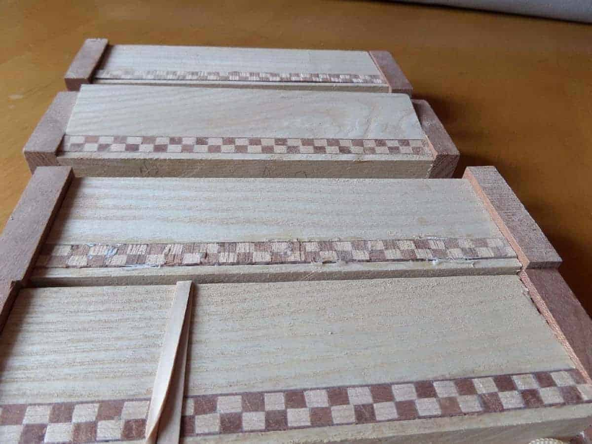 Homemade Inlaid Bandings On Wooden Pen Boxes